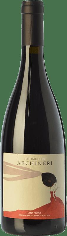 42,95 € Envío gratis | Vino tinto Pietradolce Archineri Rosso D.O.C. Etna Sicilia Italia Nerello Mascalese Botella 75 cl