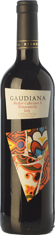 5,95 € | Red wine Pinord Gaudiana Tempranillo Joven D.O. Catalunya Catalonia Spain Tempranillo, Merlot, Cabernet Sauvignon Bottle 75 cl