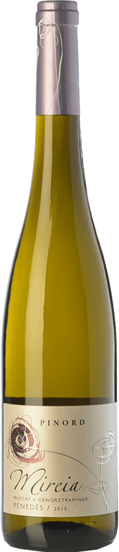 8,95 € Free Shipping | White wine Pinord Mireia D.O. Penedès Catalonia Spain Muscatel, Sauvignon White, Gewürztraminer Bottle 75 cl