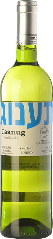 5,95 € | White wine Pinord Taanug D.O. Penedès Catalonia Spain Macabeo, Xarel·lo, Parellada Bottle 75 cl