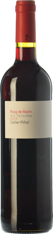 9,95 € Free Shipping | Red wine Piñol Raig de Raïm Negre Joven D.O. Terra Alta Catalonia Spain Merlot, Syrah, Grenache, Carignan Bottle 75 cl