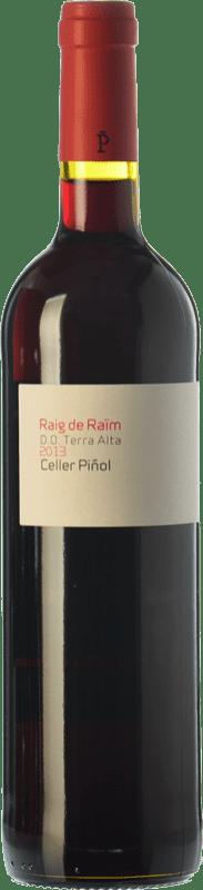 9,95 € Envío gratis | Vino tinto Piñol Raig de Raïm Negre Joven D.O. Terra Alta Cataluña España Merlot, Syrah, Garnacha, Cariñena Botella 75 cl