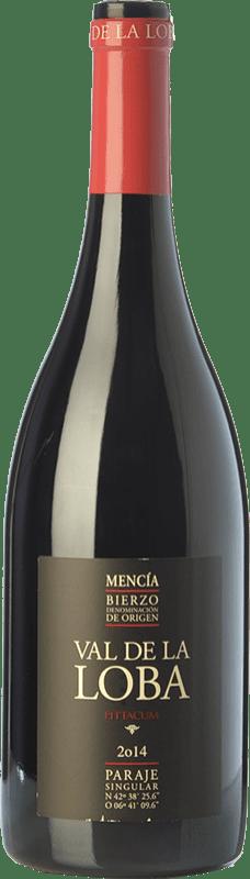 17,95 € Envío gratis | Vino tinto Pittacum Val de la Loba Crianza D.O. Bierzo Castilla y León España Mencía Botella 75 cl