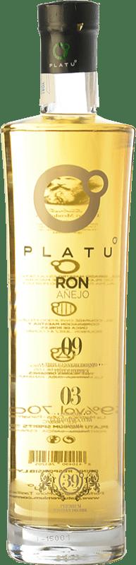 26,95 € 免费送货 | 朗姆酒 Platu Añejo 加利西亚 西班牙 瓶子 70 cl