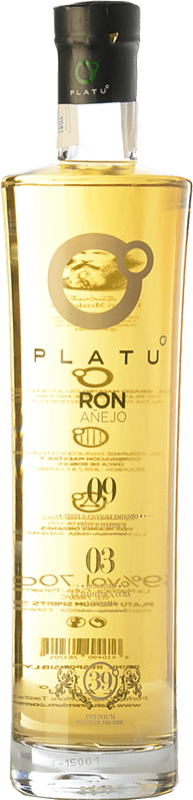 26,95 € Envío gratis   Ron Platu Añejo Galicia España Botella 70 cl