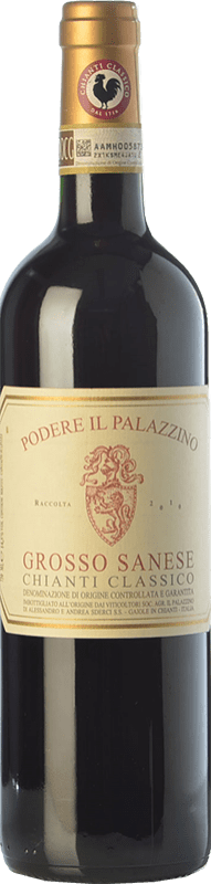 34,95 € | Red wine Il Palazzino Grosso Sanese D.O.C.G. Chianti Classico Tuscany Italy Sangiovese Bottle 75 cl