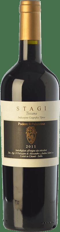 19,95 € | Red wine Il Palazzino Stagi I.G.T. Toscana Tuscany Italy Colorino Bottle 75 cl