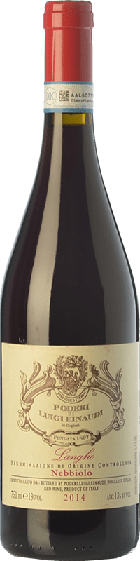 19,95 € Free Shipping | Red wine Einaudi D.O.C. Langhe Piemonte Italy Nebbiolo Bottle 75 cl