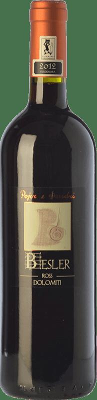 13,95 € Free Shipping | Red wine Pojer e Sandri Besler Ross I.G.T. Vigneti delle Dolomiti Trentino Italy Pinot Black, Zweigelt, Franconia, Negrara, Groppello Bottle 75 cl