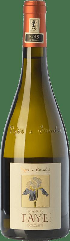 25,95 € Free Shipping | White wine Pojer e Sandri Bianco Faye I.G.T. Vigneti delle Dolomiti Trentino Italy Chardonnay, Pinot White Bottle 75 cl