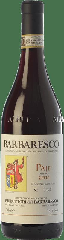 59,95 € Envío gratis | Vino tinto Produttori del Barbaresco Pajè D.O.C.G. Barbaresco Piemonte Italia Nebbiolo Botella 75 cl