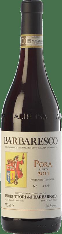 59,95 € Envío gratis | Vino tinto Produttori del Barbaresco Pora D.O.C.G. Barbaresco Piemonte Italia Nebbiolo Botella 75 cl