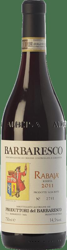 46,95 € Envoi gratuit | Vin rouge Produttori del Barbaresco Rabajà D.O.C.G. Barbaresco Piémont Italie Nebbiolo Bouteille 75 cl