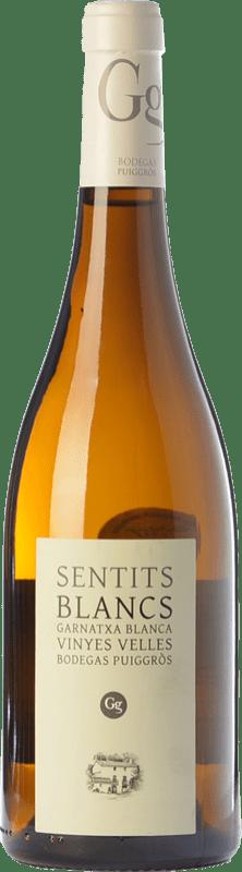 26,95 € 免费送货 | 白酒 Puiggròs Sentits Blancs Crianza D.O. Catalunya 加泰罗尼亚 西班牙 Grenache White 瓶子 75 cl