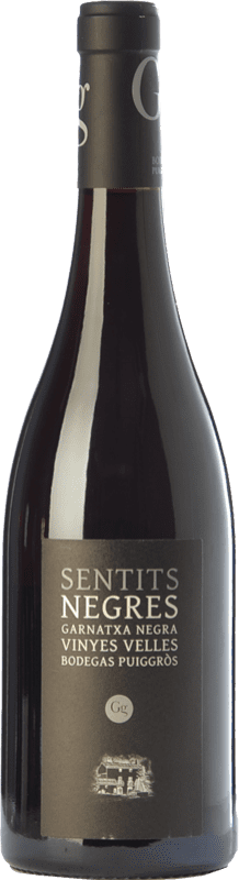 23,95 € Free Shipping | Red wine Puiggròs Sentits Negres Negra Crianza D.O. Catalunya Catalonia Spain Grenache Bottle 75 cl