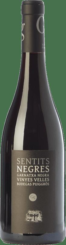 23,95 € Envoi gratuit | Vin rouge Puiggròs Sentits Negres Negra Crianza D.O. Catalunya Catalogne Espagne Grenache Bouteille 75 cl