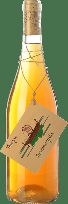12,95 € Free Shipping | White wine Bernabé Benimaquía Tinajas Crianza D.O. Alicante Valencian Community Spain Muscat, Merseguera Bottle 75 cl