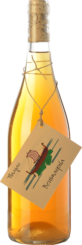 12,95 € Free Shipping | White wine Bernabé Benimaquía Tinajas Crianza D.O. Alicante Valencian Community Spain Muscatel, Merseguera Bottle 75 cl