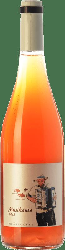 12,95 € 免费送货 | 玫瑰酒 Bernabé Musikanto D.O. Alicante 巴伦西亚社区 西班牙 Grenache Hairy 瓶子 75 cl
