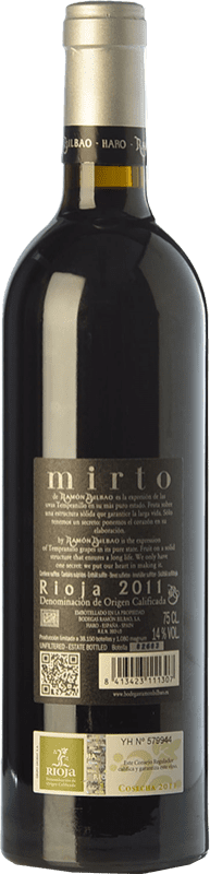 38,95 € Free Shipping   Red wine Ramón Bilbao Mirto Reserva D.O.Ca. Rioja The Rioja Spain Tempranillo Bottle 75 cl