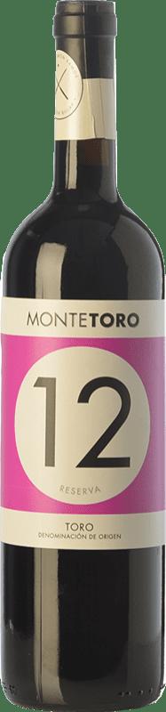 15,95 € 免费送货 | 红酒 Ramón Ramos Monte Toro Reserva D.O. Toro 卡斯蒂利亚莱昂 西班牙 Tinta de Toro 瓶子 75 cl
