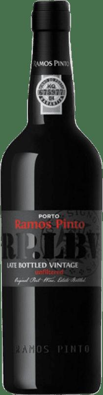 28,95 € 免费送货 | 强化酒 Ramos Pinto Late Bottled Vintage I.G. Porto 波尔图 葡萄牙 Touriga Nacional, Tinta Roriz, Tinta Barroca 瓶子 75 cl