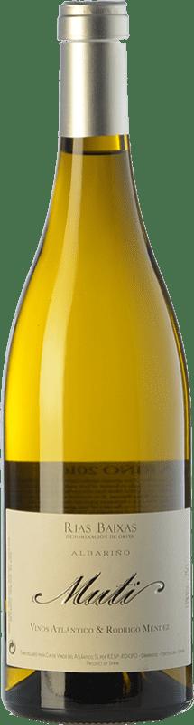 29,95 € Envío gratis | Vino blanco Raúl Pérez Muti Crianza D.O. Rías Baixas Galicia España Albariño Botella 75 cl