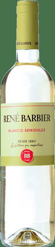4,95 € Envío gratis | Vino blanco René Barbier Viña Augusta Semi Seco Joven D.O. Catalunya Cataluña España Moscatel de Alejandría, Macabeo, Xarel·lo, Parellada Botella 75 cl