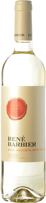 4,95 € Free Shipping | White wine René Barbier Viña Augusta Semi Dry Joven D.O. Catalunya Catalonia Spain Muscat of Alexandria, Macabeo, Xarel·lo, Parellada Bottle 75 cl