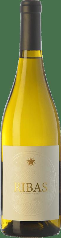 15,95 € Free Shipping | White wine Ribas Blanc I.G.P. Vi de la Terra de Mallorca Balearic Islands Spain Viognier, Premsal Bottle 75 cl