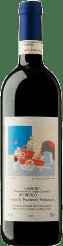 39,95 € Free Shipping | Red wine Roberto Voerzio Disanfrancesco D.O.C. Langhe Piemonte Italy Nebbiolo Bottle 75 cl