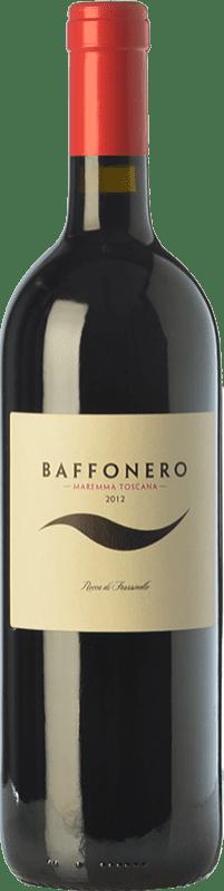 162,95 € Free Shipping | Red wine Rocca di Frassinello Baffonero D.O.C. Maremma Toscana Tuscany Italy Merlot Bottle 75 cl
