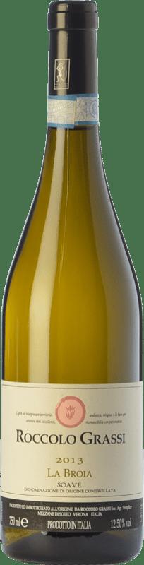 12,95 € Free Shipping | White wine Roccolo Grassi La Broia D.O.C. Soave Veneto Italy Garganega Bottle 75 cl