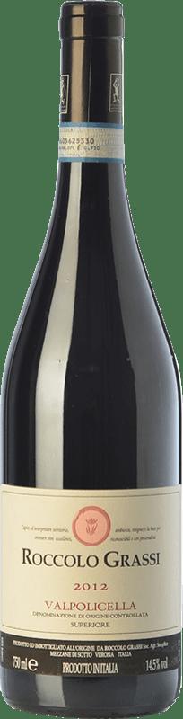 25,95 € Free Shipping | Red wine Roccolo Grassi Superiore D.O.C. Valpolicella Veneto Italy Corvina, Rondinella, Corvinone, Croatina Bottle 75 cl