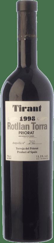 43,95 € Free Shipping | Red wine Rotllan Torra Tirant Crianza 1998 D.O.Ca. Priorat Catalonia Spain Merlot, Syrah, Grenache, Cabernet Sauvignon, Carignan Bottle 75 cl