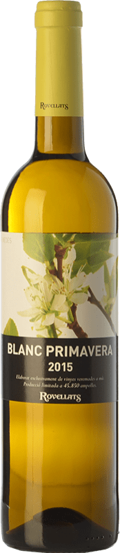 8,95 € Free Shipping | White wine Rovellats Blanc Primavera D.O. Penedès Catalonia Spain Macabeo, Xarel·lo, Parellada Bottle 75 cl