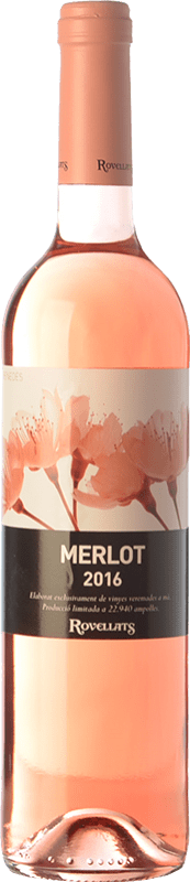 8,95 € Free Shipping | Rosé wine Rovellats Rosat D.O. Penedès Catalonia Spain Merlot Bottle 75 cl