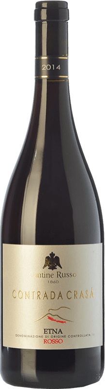 26,95 € Free Shipping | Red wine Russo Rosso Contrada Crasà D.O.C. Etna Sicily Italy Nerello Mascalese Bottle 75 cl