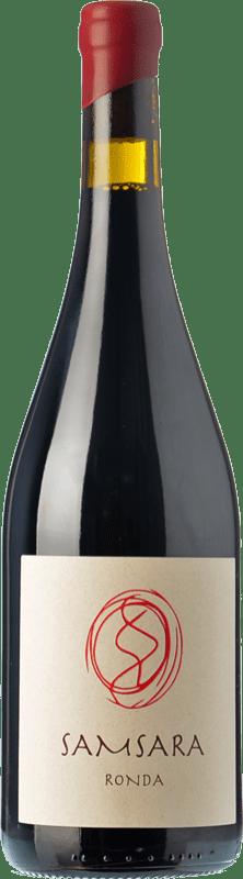 39,95 € Envío gratis | Vino tinto Samsara Ronda Crianza D.O. Sierras de Málaga Andalucía España Petit Verdot Botella 75 cl