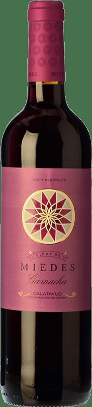 5,95 € Envío gratis | Vino tinto San Alejandro Viñas de Miedes Joven D.O. Calatayud Aragón España Garnacha Botella 75 cl