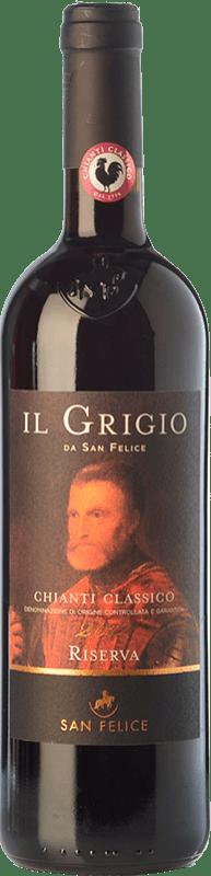 18,95 € Free Shipping | Red wine San Felice Riserva Il Grigio Reserva D.O.C.G. Chianti Classico Tuscany Italy Sangiovese Bottle 75 cl