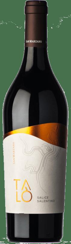 10,95 € Free Shipping | Red wine San Marzano Talò D.O.C. Salice Salentino Puglia Italy Malvasia Black, Negroamaro Bottle 75 cl