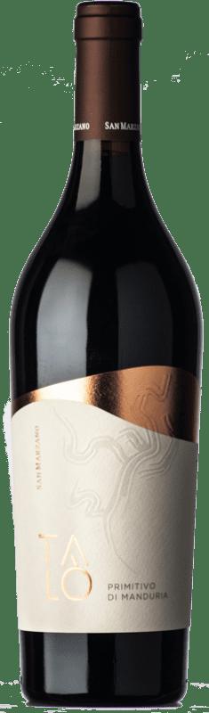 15,95 € 免费送货 | 红酒 San Marzano Talò D.O.C. Primitivo di Manduria 普利亚大区 意大利 Primitivo 瓶子 75 cl