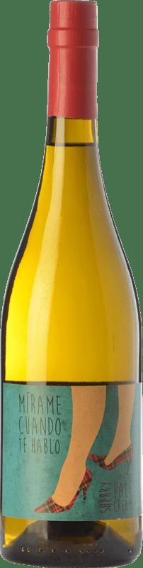 13,95 € Free Shipping | Liqueur Cream Sánchez Romate Mírame Cuando Te Hablo Pale D.O. Manzanilla-Sanlúcar de Barrameda Andalusia Spain Palomino Fino, Muscat of Alexandria Bottle 75 cl