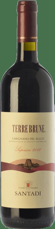 53,95 € 免费送货 | 红酒 Santadi Carignano del Sulcis Superiore Terre Brune D.O.C. Carignano del Sulcis 撒丁岛 意大利 Carignan, Bobal 瓶子 75 cl
