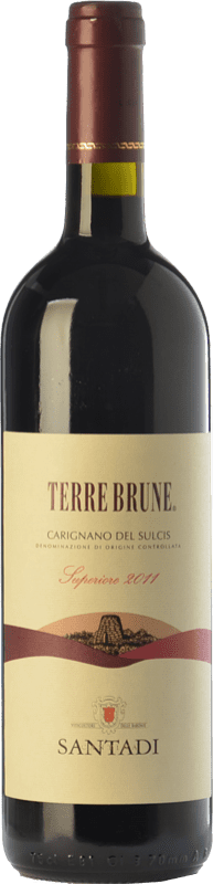 53,95 € Envío gratis   Vino tinto Santadi Carignano del Sulcis Superiore Terre Brune D.O.C. Carignano del Sulcis Sardegna Italia Cariñena, Bobal Botella 75 cl
