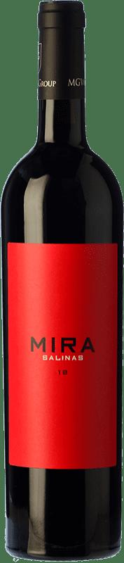 24,95 € Free Shipping | Red wine Sierra Salinas Mira Crianza D.O. Alicante Valencian Community Spain Cabernet Sauvignon, Monastrell, Grenache Tintorera, Petit Verdot Bottle 75 cl