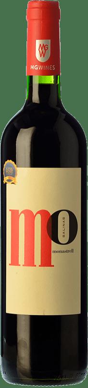 7,95 € 免费送货 | 红酒 Sierra Salinas Mo Monastrell Joven D.O. Alicante 巴伦西亚社区 西班牙 Syrah, Cabernet Sauvignon, Monastrell, Grenache Tintorera 瓶子 75 cl