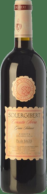 16,95 € Envoi gratuit | Vin rouge Solergibert Conxita Gran Reserva D.O. Pla de Bages Catalogne Espagne Merlot Bouteille 75 cl