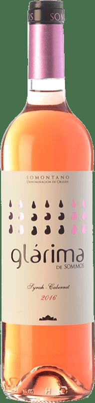 5,95 € Envío gratis | Vino rosado Sommos Glárima Joven D.O. Somontano Aragón España Syrah, Cabernet Sauvignon Botella 75 cl